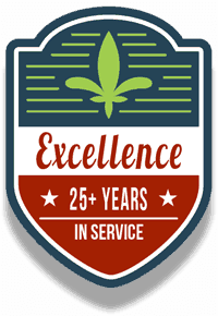 Gooroo Technical Services 25-years service excellence badge