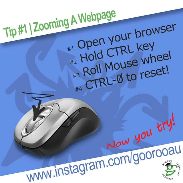 Infogram series - Tip #1, Zooming a webpage