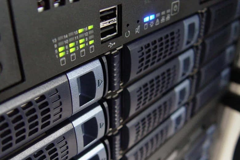 Windows server technology in rack