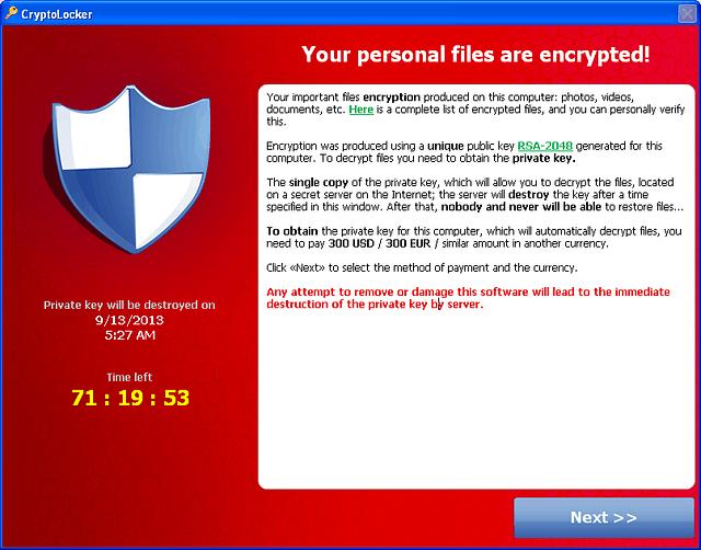 Cryptolocker crilock ransomware