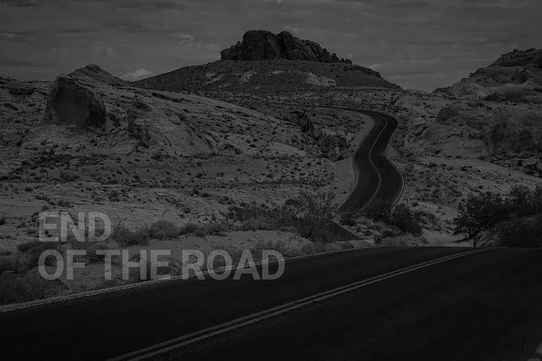 Desert Australia - end of the road