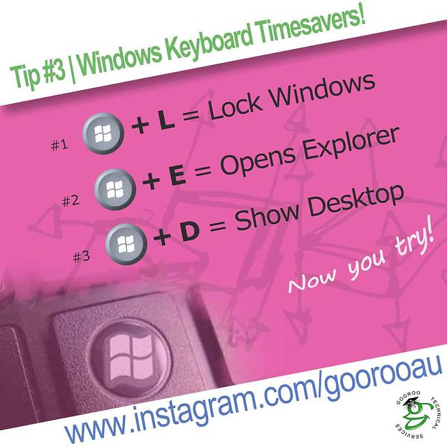 Infogram series - Tip #3, Windows Keyboard Timesavers